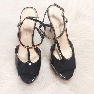 Jessica Simpson Black Carah Heel Pumps